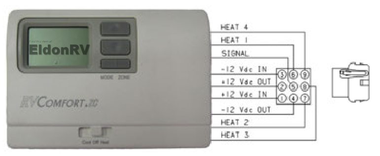 8330D3351 thermostat wiring coleman mach zone control digital thermostat for rv's ( 8330d3351 ) coleman mach 8 wiring diagram at gsmx.co